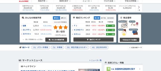 株の情報サイトおすすめ。株初心者が知っておくべき検索・スクリーニングサイト、みんなの株式
