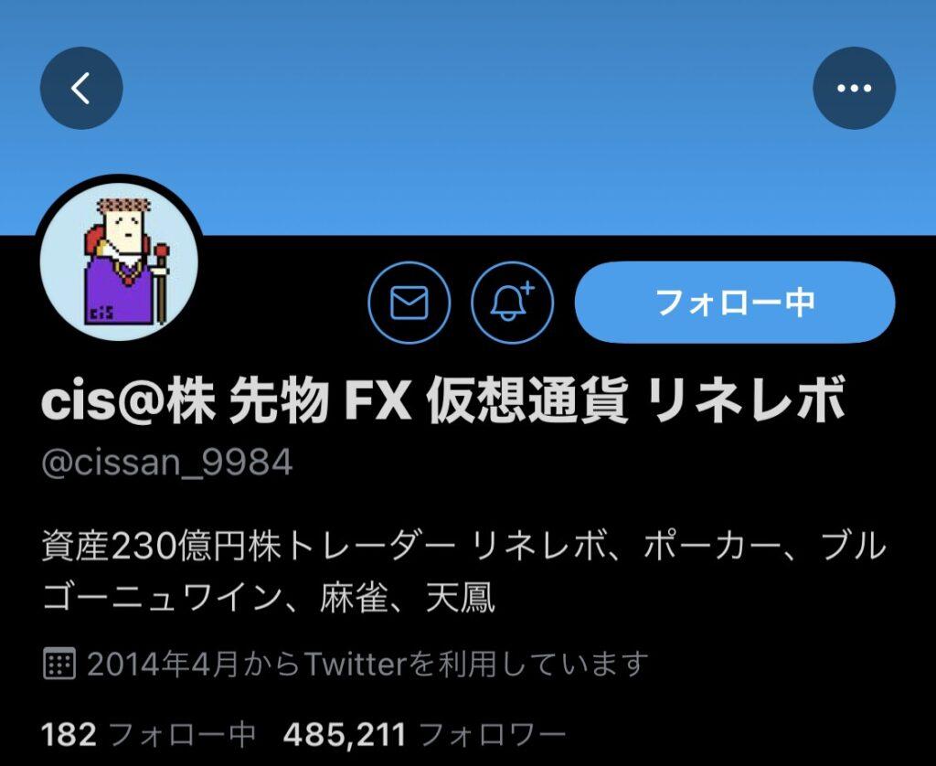 株のTwitterアカウントCis